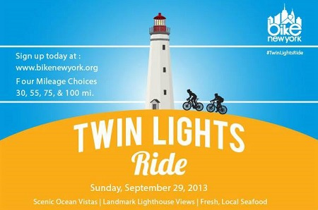 BIKE NEW YORK AND HIGHLANDS BUSINESS PARTNERSHIP TO HOST 12 TH ANNUAL TWIN LIGHTS RIDE