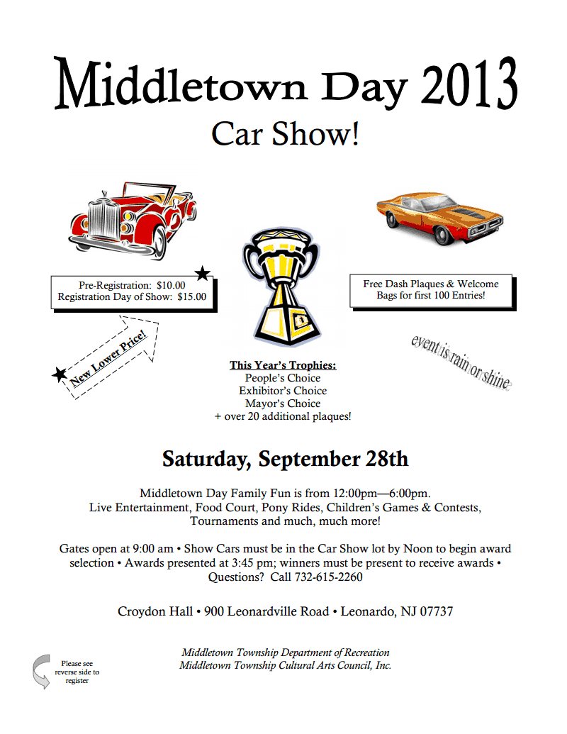 Middletown Day Car Show Price Rollback