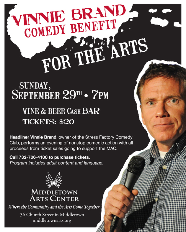 Vinnie Brand Comedy Benefit For The Arts