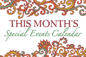 OCTOBER 2013 SPECIAL EVENTS