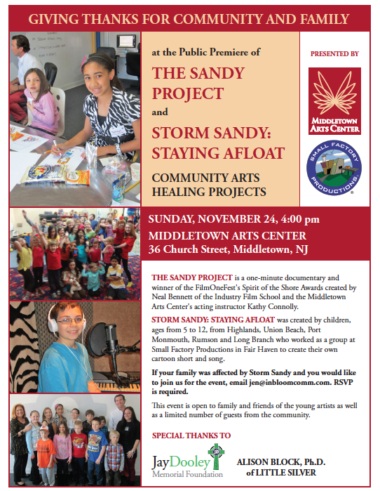 Children Affected by Storm Sandy Give Thanks for Family and Community at Premiere Event