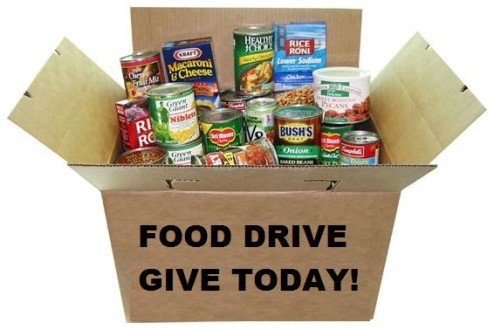 Food Drive - Box of Canned Goods