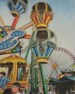 RBR senior studio art major Amber Czesnolowicz's colored pencil Up, Up and Away will be featured at the RBR Senior Art and Photography Show at the Guild of Creative Art from April 22 through May 7.