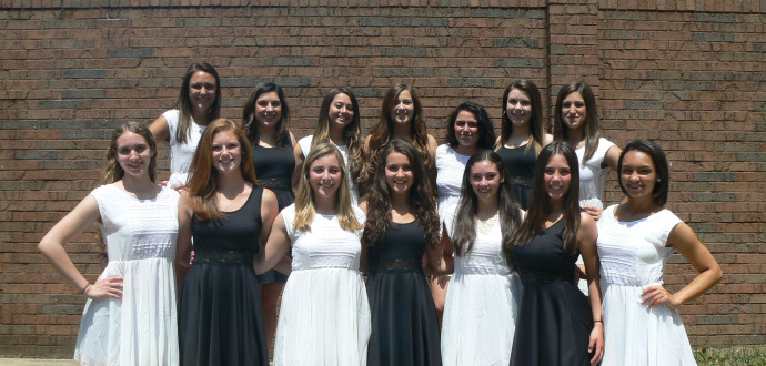 Pictured are the RBR senior dance majors, dressed for their concluding number of the RBR Spring Dance Performance.