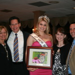 Kathy Weston of Manasquan; Pedro Trivella of Asbury Park; Recipient of the Monarch Award and Miss NJ Teen USA, Valentina Sanchez; Alyssa Fagen and MHA Board of Directors member James Fagen of Brick