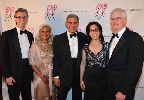 Honoree Dr. John M. Taylor, Dr. Philippa Woodriffe, Senator Joe Kyrillos, Dr. Negin Griffith, Dr. Peter Hetzler