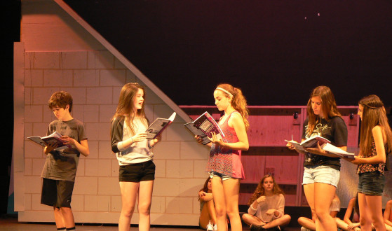 Students in the RBR VPA summer Camp audition for roles in Legally Blonde, Jr.