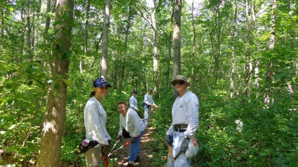 The Monmouth County Park System's Volunteer Trails Team in action.