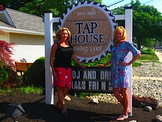 Funds raised at Oktoberfest will benefit Catholic Charities' programs that provide services dedicated to assisting children and families in Monmouth County. Event co-chairs Valarie DeFelice, Colts Neck, and Kathleen Gilly, Brielle, stand in front of the Spring Lake Tap House, the venue for this year's Oktoberfest.